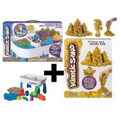 Kinetic Sand Stolik do zabaw z piaskiem 6031658 + kinetic 454g gratis (0778988196854)
