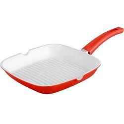 24cm Patelnia Grillowa z Powłoką Ceramiczną / ROYALTY LINE RL-AG24C RED / 04-045, kolor czerwony