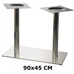 Podstawa stolika e24 podwójna, stal nierdzewna szczotkowana (stelaż stolika, stołu) od producenta Od-podsta