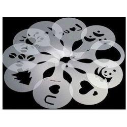 Zestaw szablonów do dekoracji kawy- plastikowy 16szt