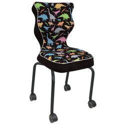Entelo Dziecięce krzesło na kółkach z grafiką rete black
