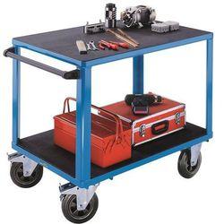 Wózek montażowy, 2 powierzchnie ładunkowe z tworzywa, pow. ładunkowa 1050x700 mm