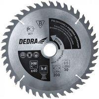 Tarcza do cięcia DEDRA H20040 200 x 30 mm do drewna HM + Zamów z DOSTAWĄ JUTRO! (5902628814104)