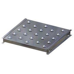 Stół kulowy, wys. konstrukcji 70 mm, szer. przenośnika 500 mm, dł. 500 mm, podzi marki Gura fördertechnik