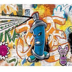 Fototapeta uliczny styl – graffiti – niebieski 1398 marki Consalnet