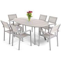 Home garden Meble ogrodowe aluminiowe lorenzo silver/grey home&garden (827660)