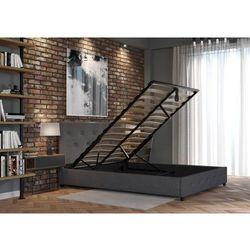 Łóżko 160x200 tapicerowane vicenza + pojemnik + materac sawana ciemno szare marki Big meble