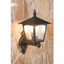 Oświetlenie lutec by eco light Lutec london zewnętrzny kinkiet brązowy, złoty, przezroczysty, 1-punktowy (4250294300782)