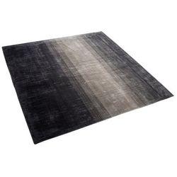 Beliani Dywan szaro-czarny 200 x 200 cm krótkowłosy ercis (4260602375067)