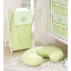 MAMO-TATO Kosz na bieliznę Śpioch w hamaku w zieleni, towar z kategorii: Kosze na pranie