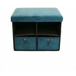 Pufa z szufladami Hiding 50cm niebiesk a, D2-9733