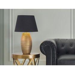 Nowoczesna lampka nocna - lampa stojąca - złota - ebro marki Beliani