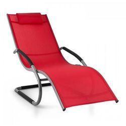 Blumfeldt Sunwave Leżak ogrodowy Leżak relaksacyjny bujający Aluminium czerwony (4260414896606)