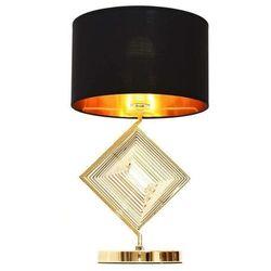 Glamour lampa nocna czarno-złota benardi marki Lumina deco