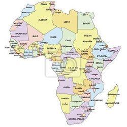 Obraz Bardzo szczegółowe Mapa polityczna Afryki., Redro
