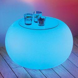 Stół BUBBLE, światło LED RGB i szklany blat (4260218362017)