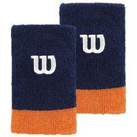 extra wide wristband granatowy/pomarańczowy marki Wilson