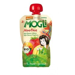 Moothie przecier jabłkowy z bananem i truskawką bio 100 g - mogli wyprodukowany przez Mogli (moothie owocowe