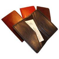 Etui na wizytówki osobiste kw-42/4s wykonane ze skóry naturalnej - kolekcja classic  marki Tomi ginaldi
