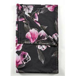 Narzuta z nadrukiem w magnolie czarny marki Bonprix