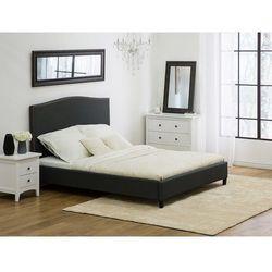 Łóżko szare - 180x200 cm - łóżko tapicerowane - montpellier marki Beliani
