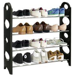 Szafka na buty z metalowymi 4 półkami regał czarno-szary