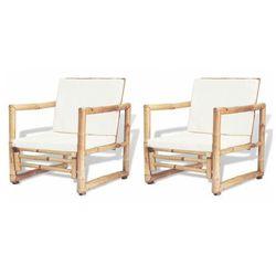 Elior Zestaw bambusowych krzeseł ogrodowych - mollie