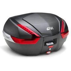 Kufer  V47NN (czarny, 47 litrów, czerwone odblaski, pokrywa karbonowa), produkt marki Givi
