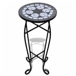 Czarno-biały mozaikowy kwietnik - cadix marki Elior