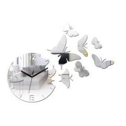 Zegar ścienny Butterfly Mirror (5902838310090)