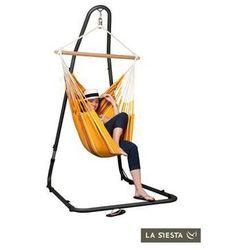 La siesta Zestaw hamakowy: fotel hamakowy currambera ze stojakiem mediterraneo, pomarańczowy cuc14mea12