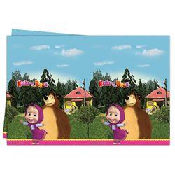 Procos Obrus urodzinowy masza i niedźwiedź - 120x180 cm - 1 szt.