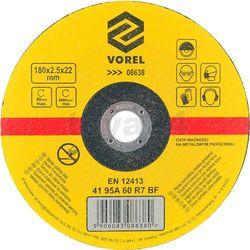 Vorel Tarcza do cięcia metalu 180x2,5x22 / 08638 /  - zyskaj rabat 30 zł (5906083086380)