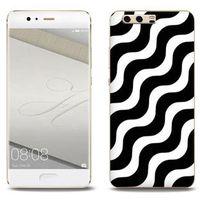 Fantastic Case - Huawei P10 Plus - etui na telefon Fantastic Case - biało-czarna fala