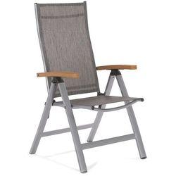 Krzesło ogrodowe aluminiowe florencja silver / brown marki Home&garden