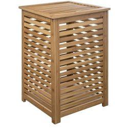 5five simple smart Kosz na bieliznę sicela łazienkowy z bambusa w naturalnym brązowym kolorze marki five