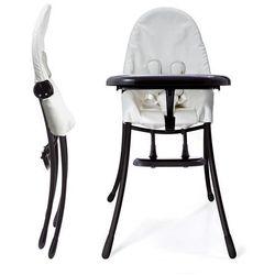 Bloom, Nano Bloom, składane krzesełko do karmienia, stelaż czarny + wkład biały, towar z kategorii: Krzes