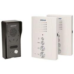 Orno zestaw domofonowy jednorodzinny z interkomem, bezsłuchawkowy eluvio intercom or-dom-re-920/w