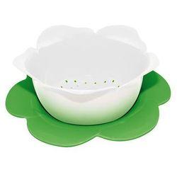Durszlak z podstawką duży Zak! biało-zielony - produkt z kategorii- Durszlaki, cedzaki i sitka