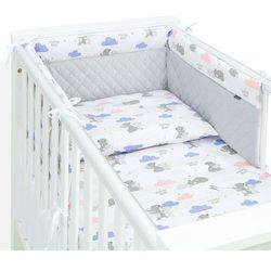 Mamo-tato 3-el pościel do łóżeczka 60x120 velvet pik - niedźwiadki z niebieskim / jasny szary