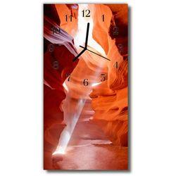 Zegar Szklany Pionowy Krajobrazy Kanion pomarańczowy, kolor pomarańczowy