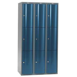 Ekskluzywne szafy osobiste 4x3 schowki Kolor drzwi: Niebieski metalizowan