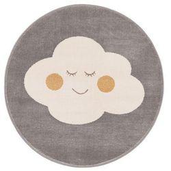 Dywan okrągły Soft Cloud 100 cm popielaty (5901760086127)