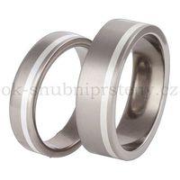 Tytanowe obrączki ślubne z srebrem TS33-5 (Tytanowe obrączki)