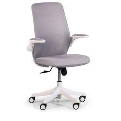 Krzesło biurowe z siatkowanym oparciem BUTTERFLY, szara
