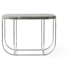 Czarny stolik kawowy cage, szary marmur - marki Menu