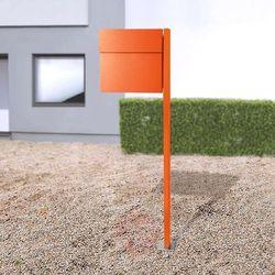 Stojąca skrzynka na listy letterman iv, pomarańcz. marki Absolut/ radius