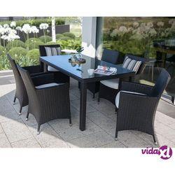 meble ogrodowe rattan ogród patio weranda 6 krzeseł 160cm italy marki Beliani