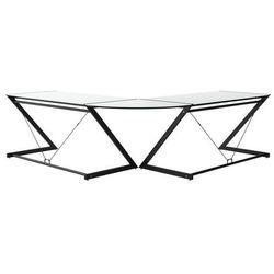 Unique Biurko dd z-line corner czarny stelaż i białe szkło