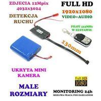 Mikro-Kamera FULL HD do Ukrycia/Zabudowy, Nagrywająca Obraz/Dźwięk (21-dni Pracy) Detekcja Ruchu..